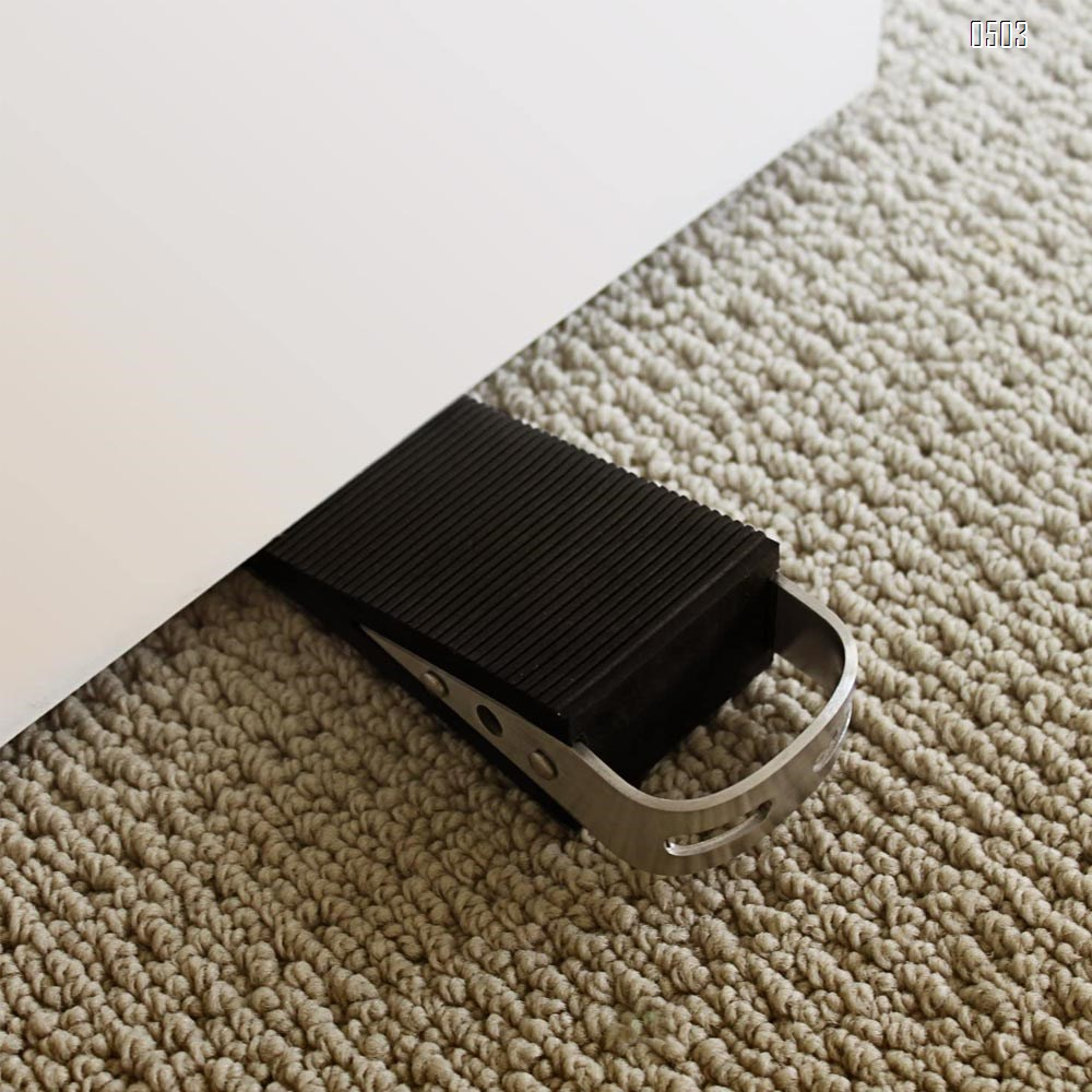 LARGE Rubber Door Stopper - Door Stop That Won't Scratch Floor or Door - Works On All Surfaces