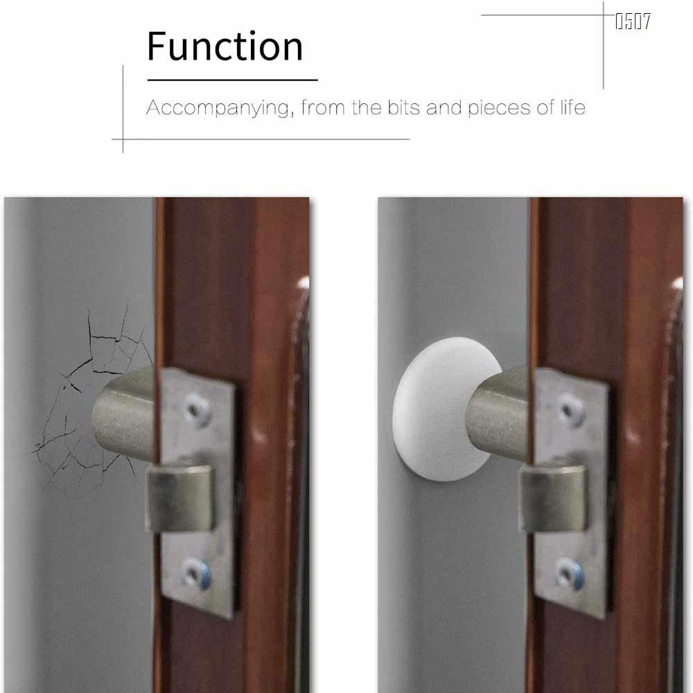 Door Stopper, Silicone Wall Protectors Self Adhesive Door Handle Knob Bumper Guard Stopper Rubber Door Stops