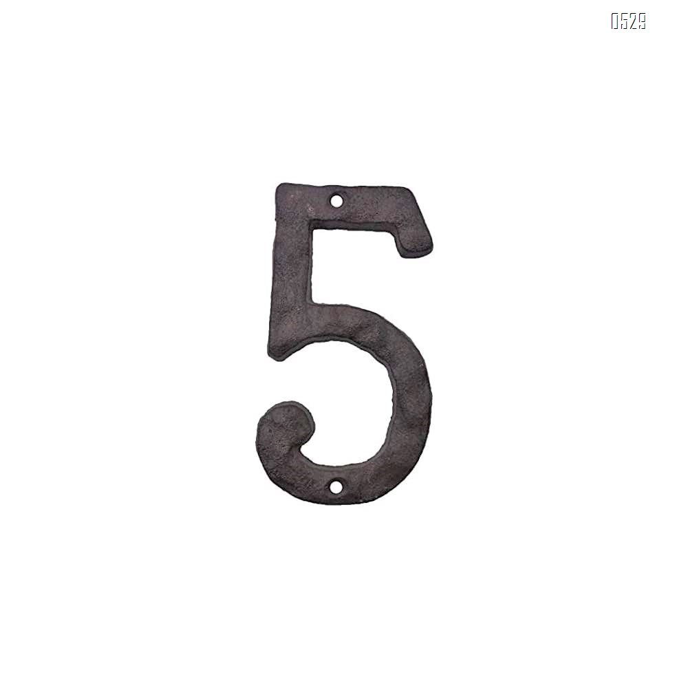 House Numbers- 3 Inch Innovative Wrought Iron Numbers- Vintage Nail on Die Cast Mailbox Numbers