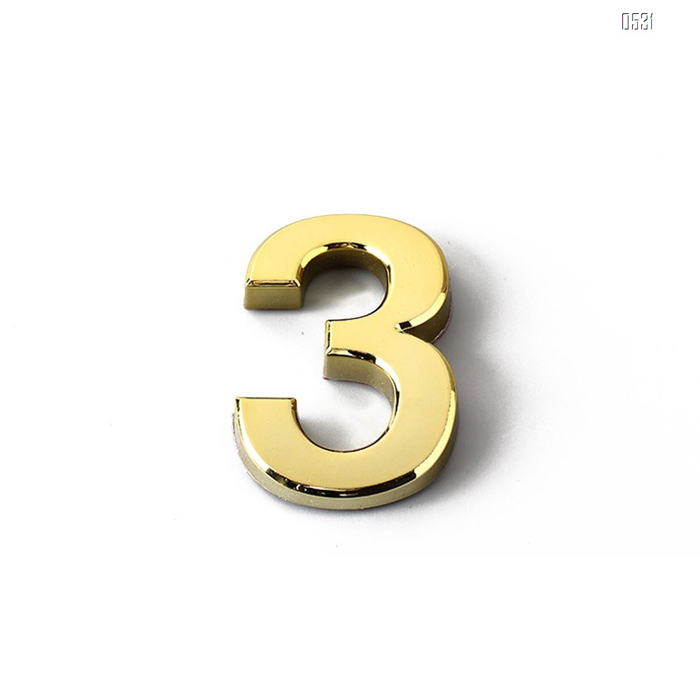 Mailbox Numbers 0-9, 3 Inch Gold House Numbers Stickers for Front Door, Apartment, Home Room, Address Plaque.(3 inch 0-9, Golden)