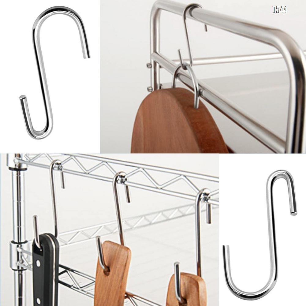 Heavy Duty S Hooks Pan Pot Holder Rack Hooks Hanging Hangers S Shaped Hooks for Kitchenware Pots Utensils Clothes Bags Towels Plants
