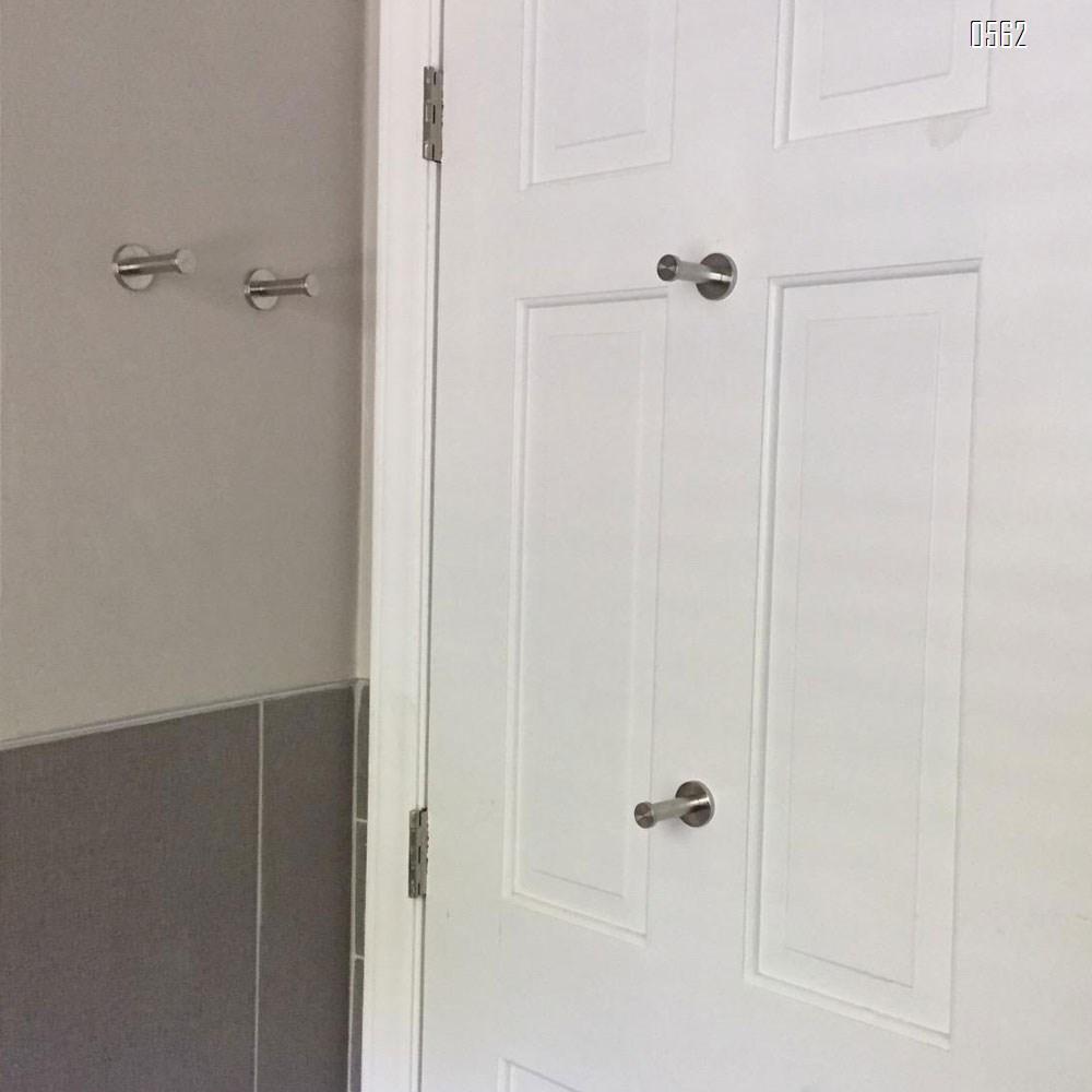 4 Inch Wall Mount Robe Hooks, Brushed Stainless Steel Coat Hook, Heavy Duty Bath Towel Wall Hook, Coat Hangers Holder for Bathroom, Bedroom, Kitchen