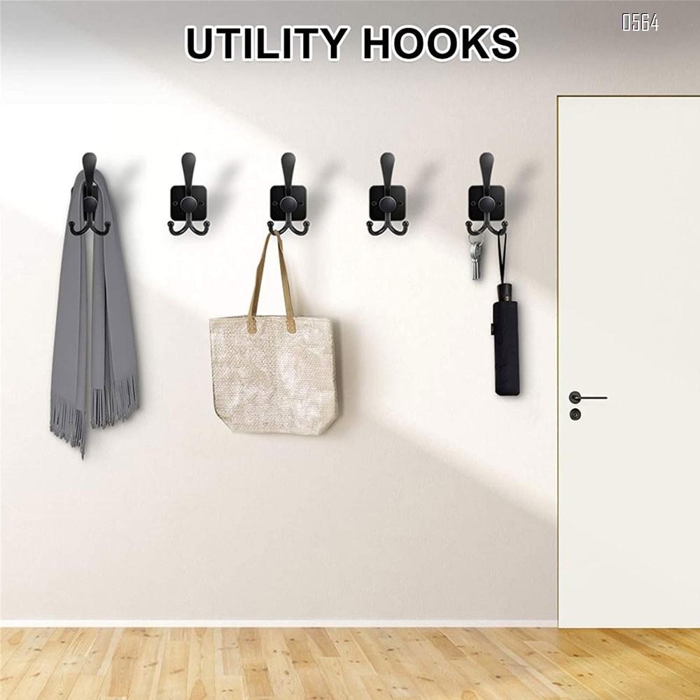 Coat Hooks Hanging Hat Hook for Wall Mounted Dot Coat Hooks Decorative Wall Hooks for Hanging Coat,Hat,Towel,Scarf, Bag,Key,Backpacks etc (Black)