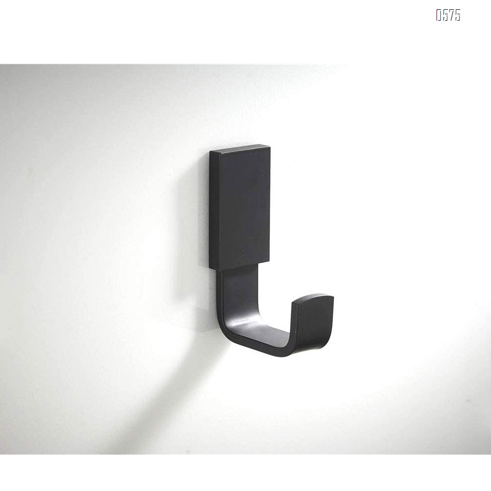 Coat Hook Brass Robe Towel Hooks Contemporary Style Matte Black Finish Wall Mounted