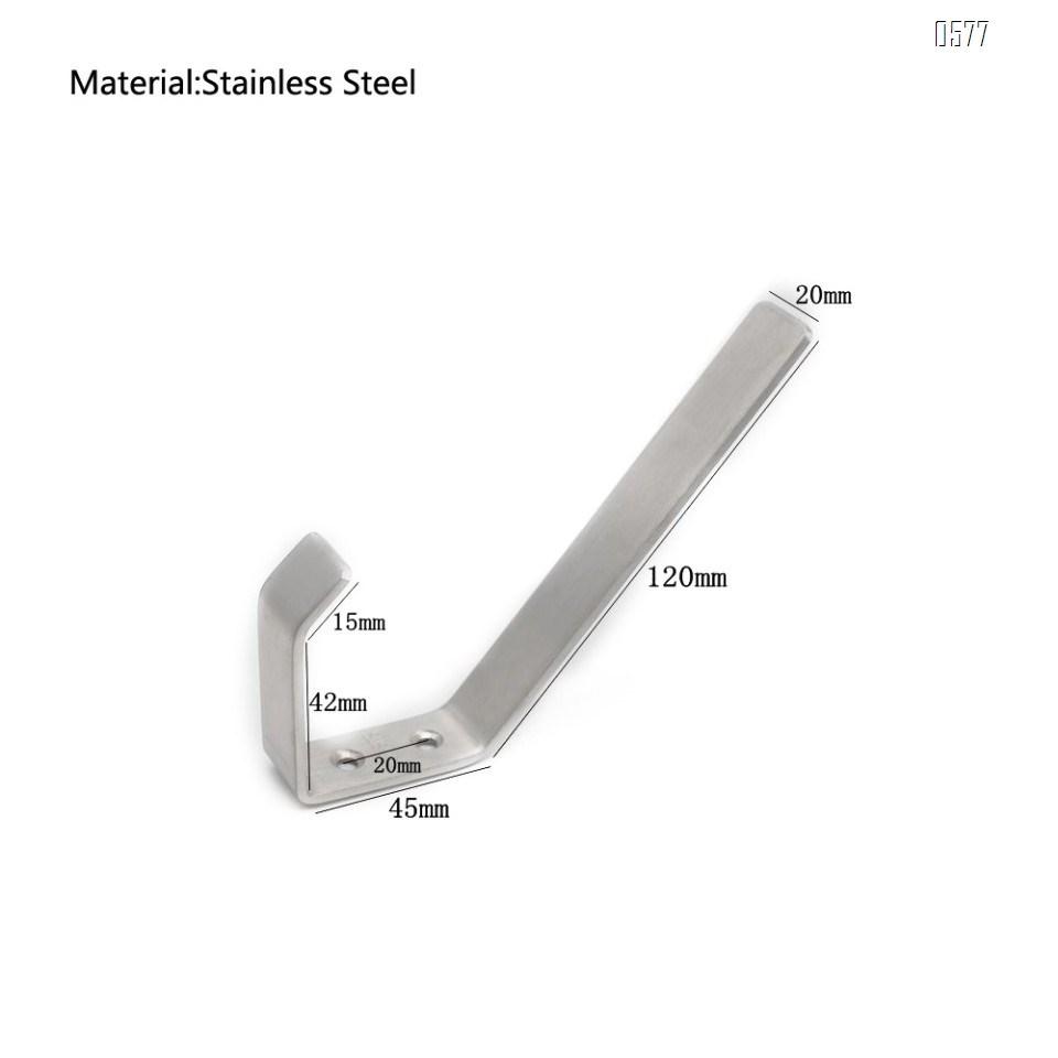 Heavy Duty Coat Hook - Brushed Stainless Steel