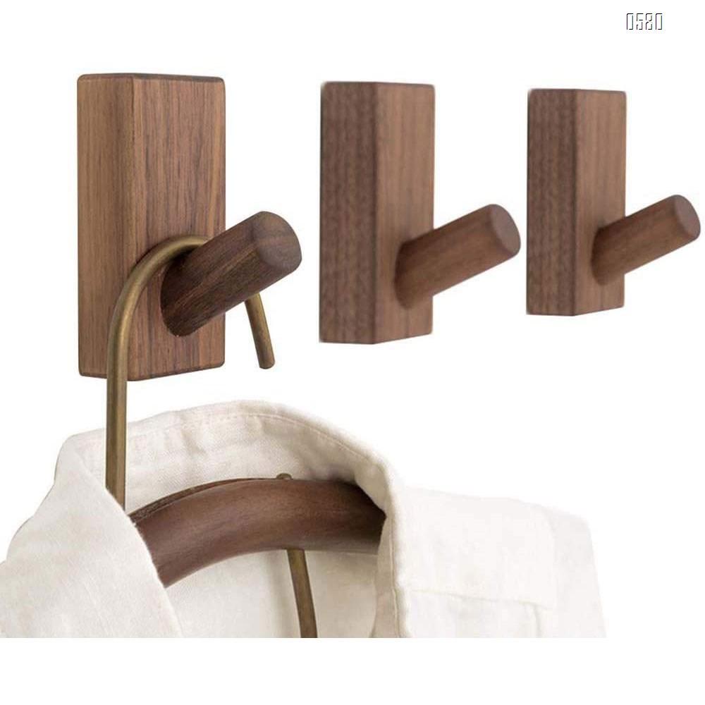 Wooden Coat Hooks Wall Mounted Vintage Single Organizer Hangers, Handmade Craft Hat Rack Hat Hanger