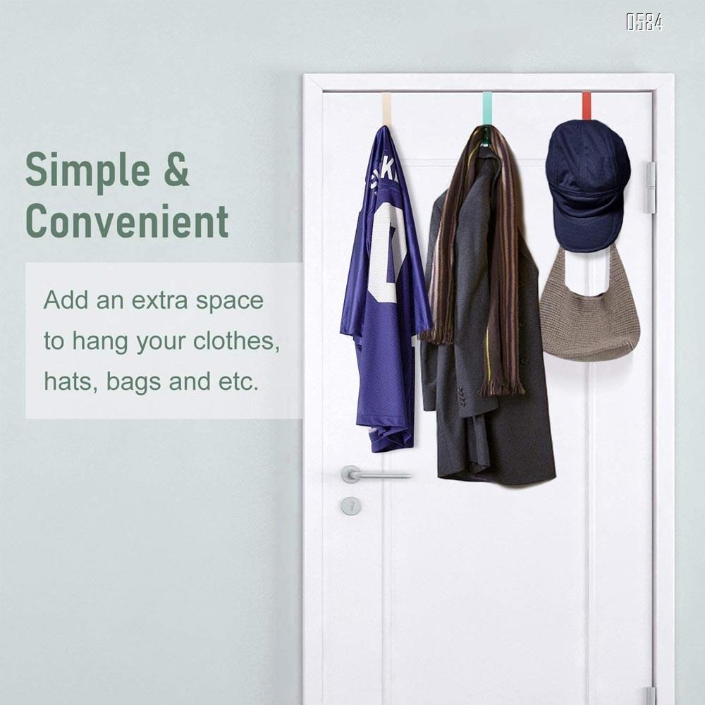 Over The Door Hooks for Clothes Sturdy Metal Single Door Hooks for Hanging Coats Hats Robes Towels Jacket  Decorative Coat Hooks