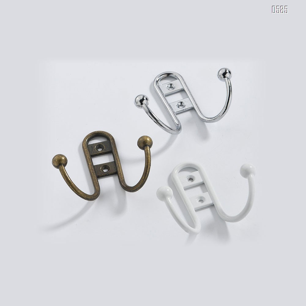 Double Robe Hook With Ball End