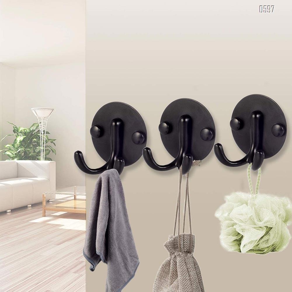 Heavy Duty Utility Hooks, Wall Mounted Black Hooks for Hanging Coat, Towel, Hat, Key, Bag, Scarf