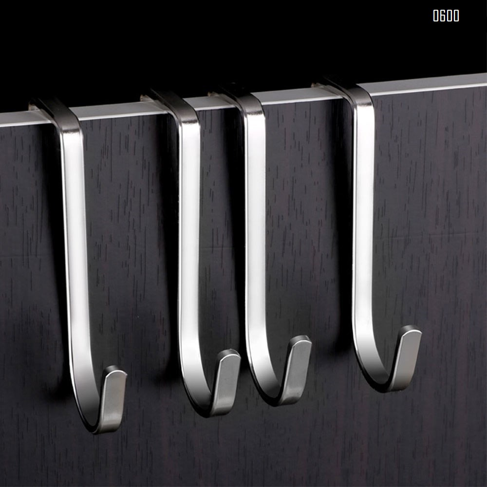 Over Door Hook S Shaped Heavy Duty for Hanging - Single Hook Loads up to 30KG for Kitchen, Bathroom, Bedroom and Office