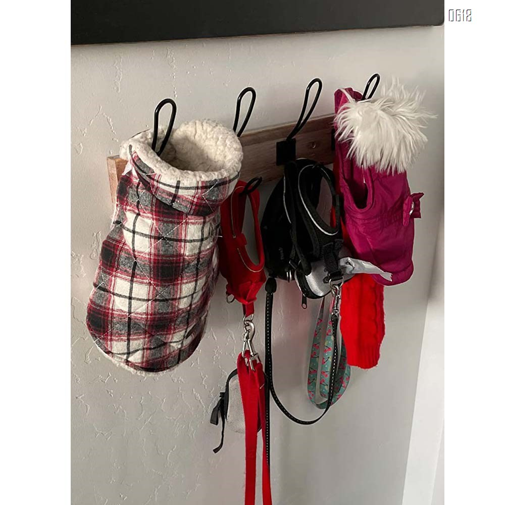 4 Hooks Wall Mounted Coat Rack,Wooden Entryway Vintage Rustic Coat Rack Hat Hanger Rack 4-Hook Rail for The Entryway, Bathroom, Bedroom , Kitchen, Mudroom Solid Wood