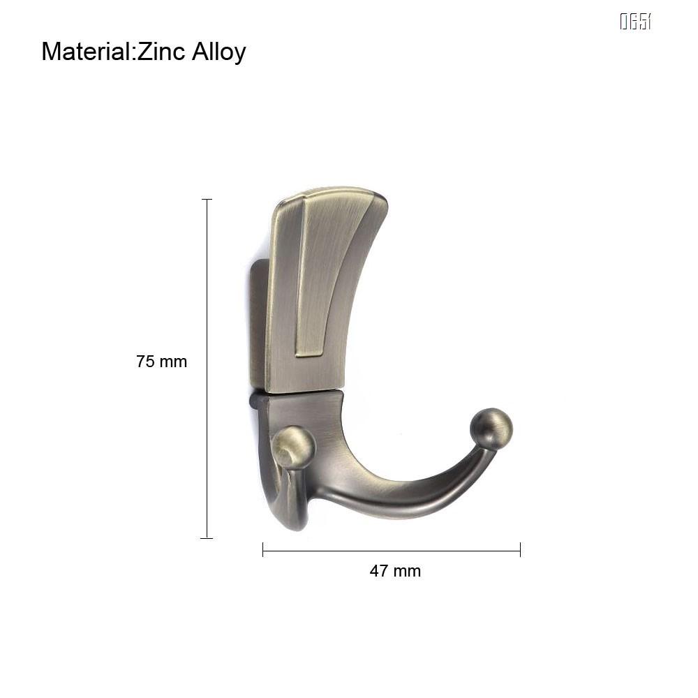 Modern simple zinc alloy double hook coat hook