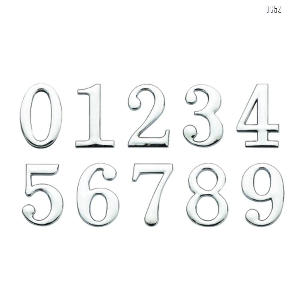 45mm(2 inch) high self-adhesive number letters, mailbox number letters, zinc alloy, can be used for windows, doors, cars, homes, businesses, address numbers