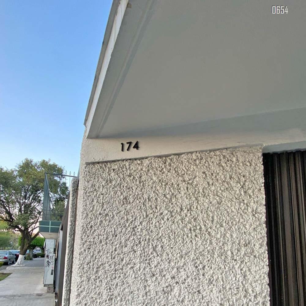 2.36 inch (60 mm) high Self-adhesive modern door plaque house number hotel door address digital sticker sign mailbox numbers