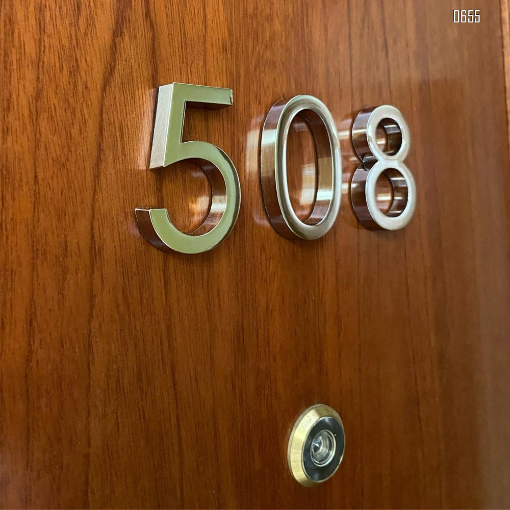 2.36 inch (60 mm) high Self-adhesive mailbox numbers fashion home decor plating address slogans digital door signage hotel door stickers board 6cm silver plaque modern house numbers
