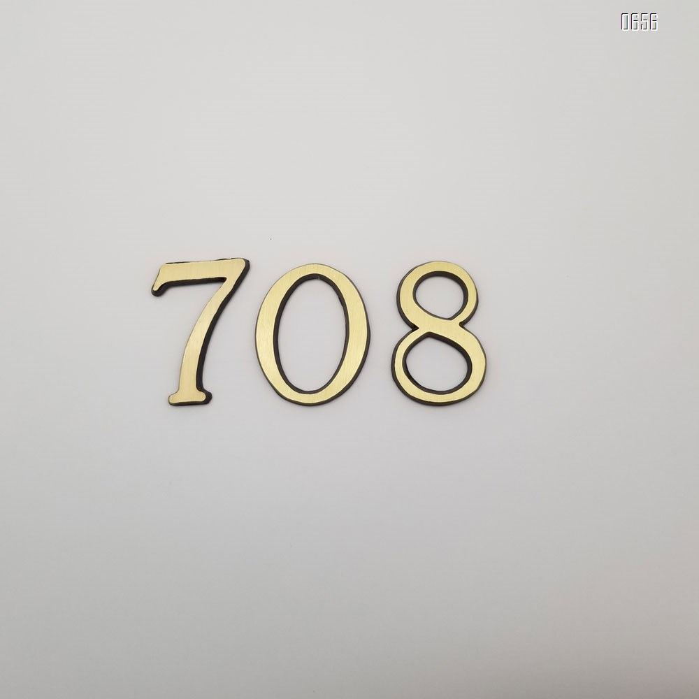 2-inch(50 mm) height self-adhesive brass mailbox numbers