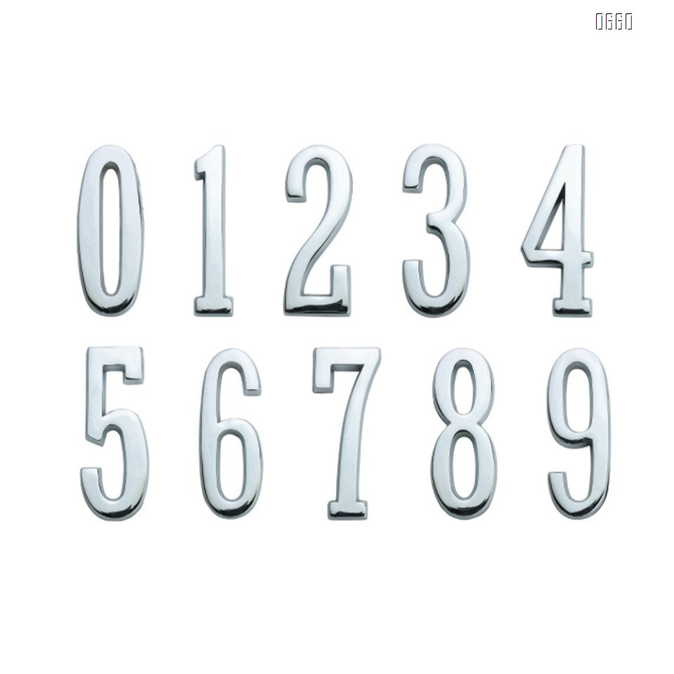 4-inch self-adhesive high-quality bright-colored aluminum house number and street address number for residential and mailbox signs