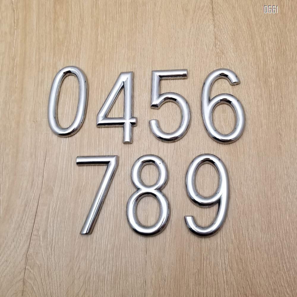 Modern house number 3 inch (75mm) solid zinc alloy street address number-elegant floating appearance