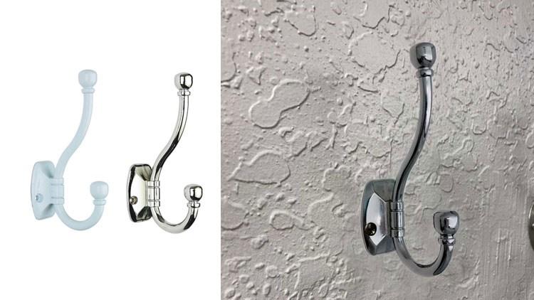Heavy Duty Dual Coat Hooks Wall Mounted Retro Double Hooks Utility Hooks for Coat, Scarf, Bag, Towel, Key, Cap, Cup, Hat