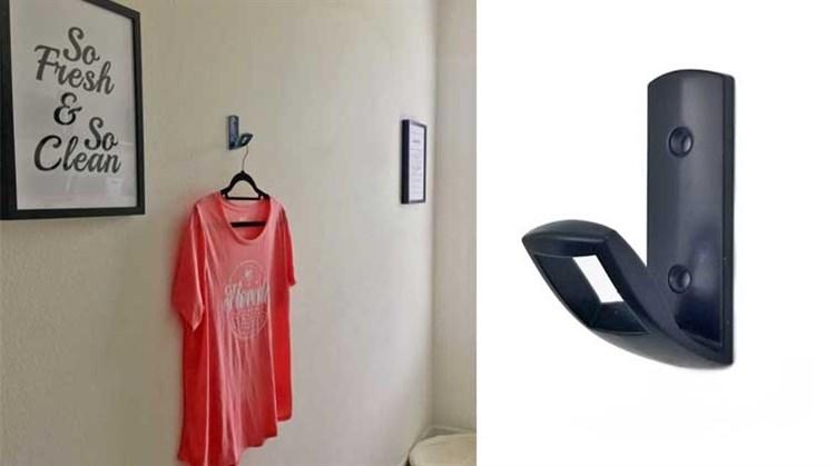 Coat Hooks Wall Mounted Towel Hooks Heavy Duty Single Robe Hanger for Bathroom Kitchen Office
