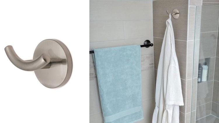 Towel hook, bathroom robe hook polished nickel towel rack, for bathroom, bathroom accessories